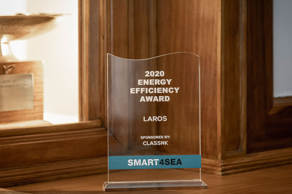 Laros by Prisma Electronics has been awarded with the Energy Efficiency Award 2020